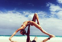 Couple and Paddleboard yoga