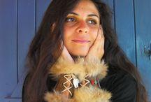 Manchettes bracelets ethnique brun , creation Anjes  /Alittlemarket
