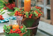 Tischdeko Herbst / Winter