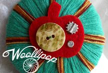 our WOOLLIPOP brooches collection / our 100% handmade wool brooches