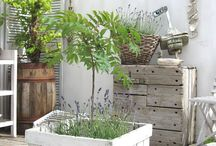 Creative planters / Reclaimed wood planters