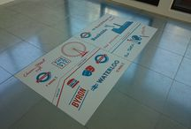 Commercial space marketing displays