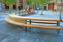 Tournai Project (Belgium) / Factory Furniture were approached to take the client's (Council of Tournai) designs through to the manufacturing stage. The picnic units comprised of large curved FSC® Iroko slats mounted onto a galvanised steel channel frame.