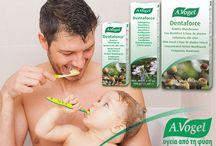 A.Vogel Dentaforce® / φυτική σειρά στοματικής υγιεινής A.Vogel Dentaforce με φασκόμηλο, δυόσμο, μύρρο, κανέλλα και μέντα. Η σειρά αποτελείται από οδοντόπαστα, στοματικό διάλυμα και στοματικό spray. Η σύνθεση της σειράς είναι ιδανική για επίμονες φλεγμονές, άφθες και δύσοσμη αναπνοή καθώς και για την καθημερινή υγιεινή της στοματικής κοιλότητας. Επίσης, περιορίζει αποτελεσματικά τη μικροβιακή πλάκα, την ουλίτιδα και την τερηδόνα. Τα προϊόντα αυτά είναι χωρίς φθόριο και δεν περιέχουν parabens.
