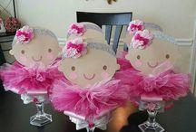 Centros de mesa de baby shower