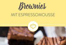 Brownies mit Esprrsomousse