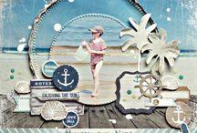 scrapbook layout strand_Urlaub