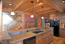 Timber Frame Kitchens / finished kitchens in our timber frame homes
