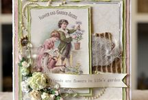 Cards - Shabby chic / cardmaking shabby chic