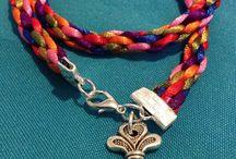 7 colors cord bracelet