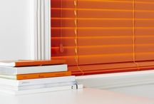Bright & Bold / Bright bold colours on premier wood blinds
