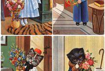 Eski kartpostallar / Nostaljik, Kedili, yeni yıl kartpostalları