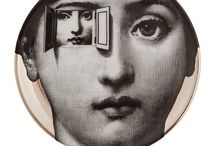 Fornasetti / Piero Fornasetti was a Milanese painter, sculptor, interior decorator, engraver of books and a creator of more than 11,000 products. In terms of variety of decoration, Fornasetti's production of objects and furniture is one of the largest of the 20th century.