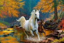 Yağlı boya atlar