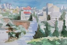 Palestina 2014 / Oil and Watercolours from Palestina
