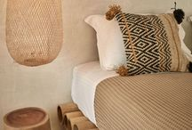 Ethnic interior and exterior / Lovely decorations for home with ethnic pattern.