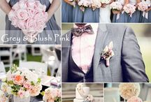 Grey and blush pink wed / 50 shades of grey on your wedding!