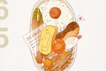 Animals&Food Illustrations