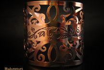 Bratari din cupru / Mai multe creatii in cupru , otel inoxidabil sau sticla gravata, gasiti pe site-ul de prezentare: http://hadarugart.weebly.com