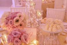 pink and gold wedd