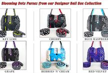 Designer Bali Box Blooming Dots Designer Purse Patterns / Get the patterns here & see a list of stores that sell Batik Textiles Fabrics.  http://batiktextiles.com/designerbaliboxbloomingdotspurses.aspx