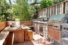 Idei cu bucatarii de vara - outdoor kitchens