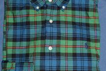 Mens L Ralph Lauren Green Navy Plaid Button Down Classic Shirt w Pony Logo