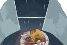 Los libros y la lluvia