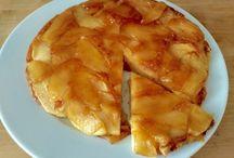 Tarta de manzana en sartén