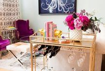 Gold and Colorful Living Room