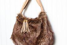 faux fur bag