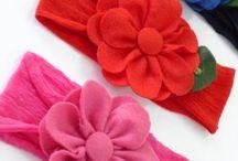 tiara de flor feltro