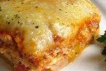 Chicken and roasted lasagna