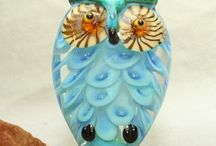The glass OWL / lampwork owls