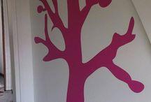 inspiratie decoratie kamers / klantenfoto's inspiratie met saynomore muurstickers. Kinderkamers, muren