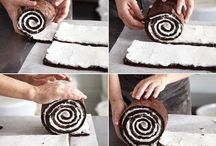 chocolate stripe cake