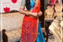 silk saree hairstyles