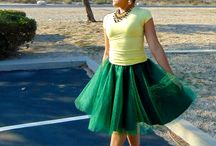 Luck of the Irish Green Tulle / Love Green I have to use it more!