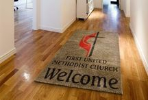 Church Logo Rugs & Mats / Rug Rats custom carpet specializes in creating church custom rugs and mats for any type of church organization.