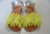 Handmade sandals for little girls by elli lyraraki