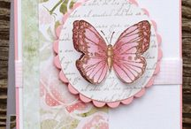Perhoskortit - cards with butterflies / Perhoskortteja