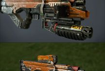 game art _ weapons