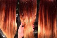 colouring hair