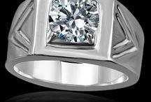 Men's Wedding Rings Simulated Diamond