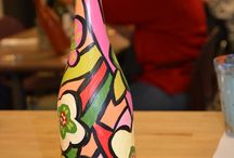 Crafts and Cocktails / Library Programming, community partnership, cocktails and crafts, VRD, Alpine Arts Center, painting.