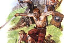 pict warriors and celt warriors