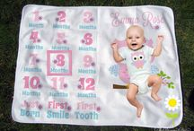 Milestone Baby Blankets / Personalized baby blankets for capturing baby's milestones. / by The Dreamy Daisy