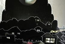 Teatro de sombras/marionetas/objetos.