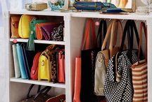 bags in closet