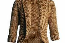 casaco de trico adulto
